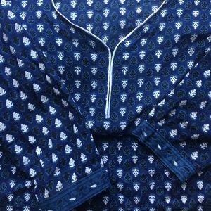 Boho hippie Tunic Indian shirt tunic blue